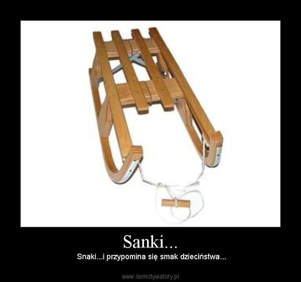 Sanki... –  Snaki...i przypomina się smak dzieciństwa...