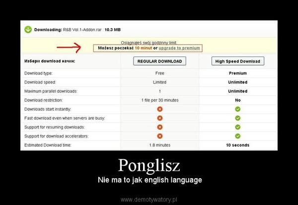 Ponglisz –  Nie ma to jak english language