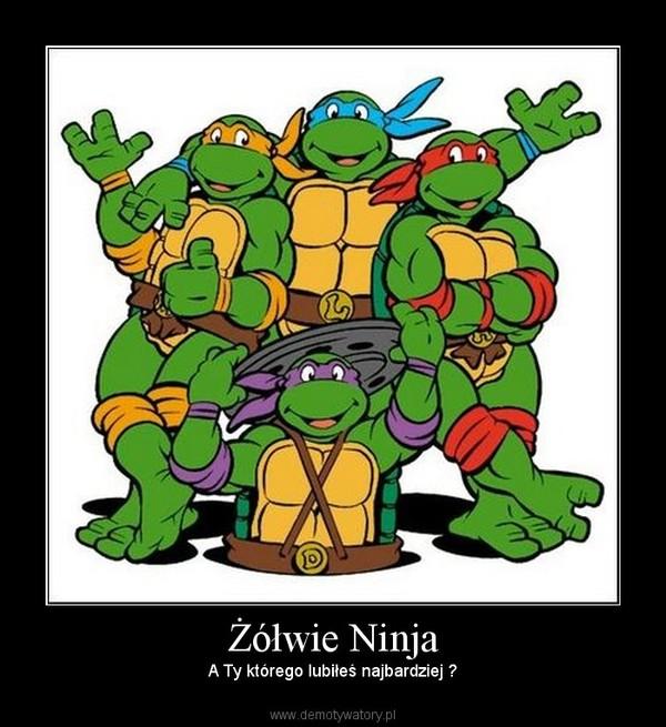 Żółwie Ninja – A Ty którego lubiłeś najbardziej ?