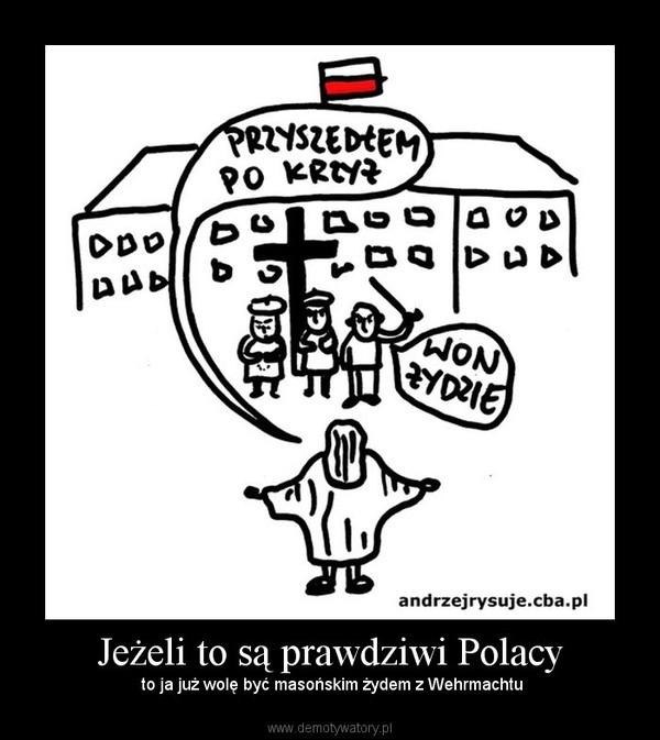 Jeżeli to są prawdziwi Polacy –  to ja już wolę być masońskim żydem z Wehrmachtu