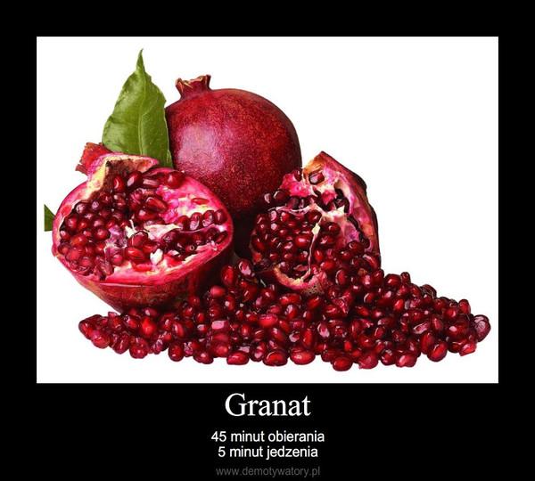 Granat – 45 minut obierania5 minut jedzenia