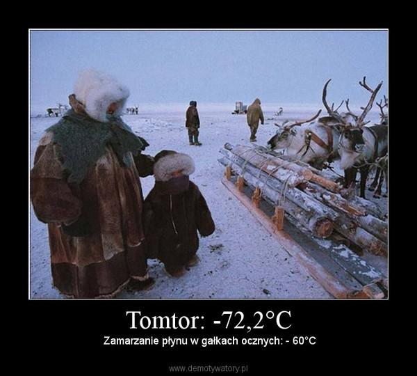 Tomtor: -72,2°C – Zamarzanie płynu w gałkach ocznych: - 60°C