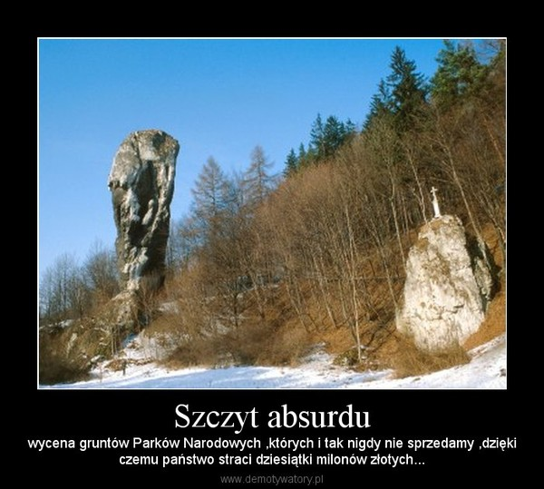 Szczyt absurdu – wycena gruntów Parków Narodowych ,których i tak nigdy nie sprzedamy ,dziękiczemu państwo straci dziesiątki milonów złotych...