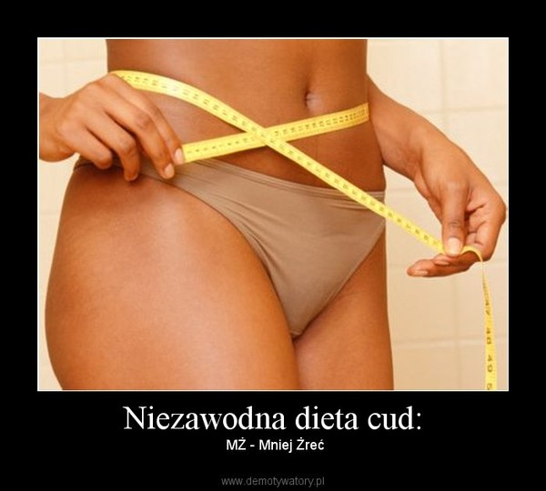 Niezawodna dieta cud: – MŻ - Mniej Żreć