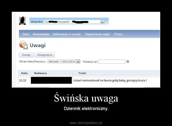 Świńska uwaga – Dziennik elektroniczny.