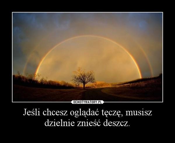 Jeśli chcesz oglądać tęczę, musisz dzielnie znieść deszcz. –