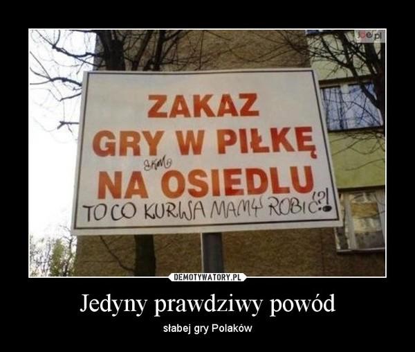 Jedyny prawdziwy powód – słabej gry Polaków