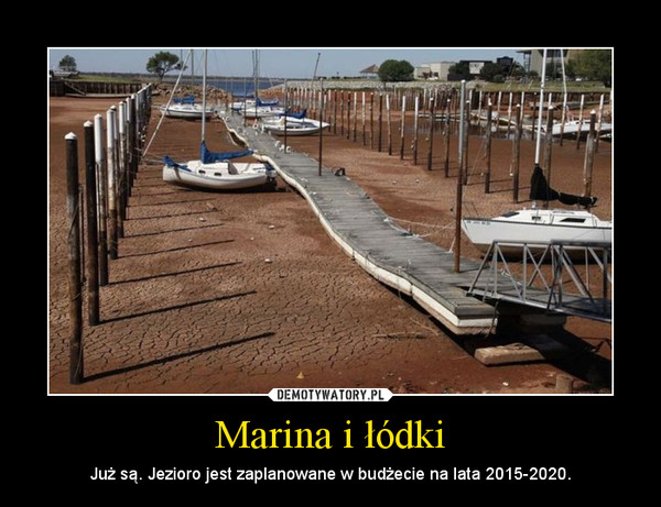 Marina i łódki – Już są. Jezioro jest zaplanowane w budżecie na lata 2015-2020.