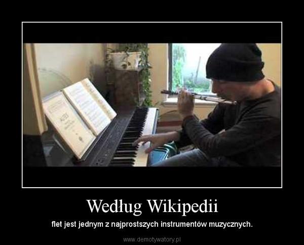 Według Wikipedii – flet jest jednym z najprostszych instrumentów muzycznych.
