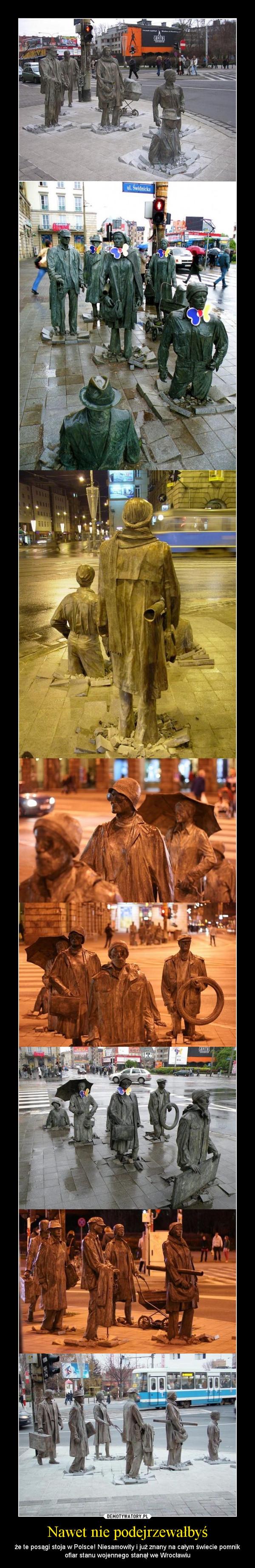 Nawet nie podejrzewałbyś – że te posągi stoja w Polsce! Niesamowity i już znany na całym świecie pomnik ofiar stanu wojennego stanął we Wrocławiu