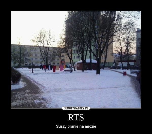RTS – Suszy pranie na mrozie