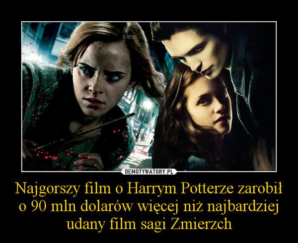 Najgorszy film o Harrym Potterze zarobił o 90 mln dolarów więcej niż najbardziej udany film sagi Zmierzch –