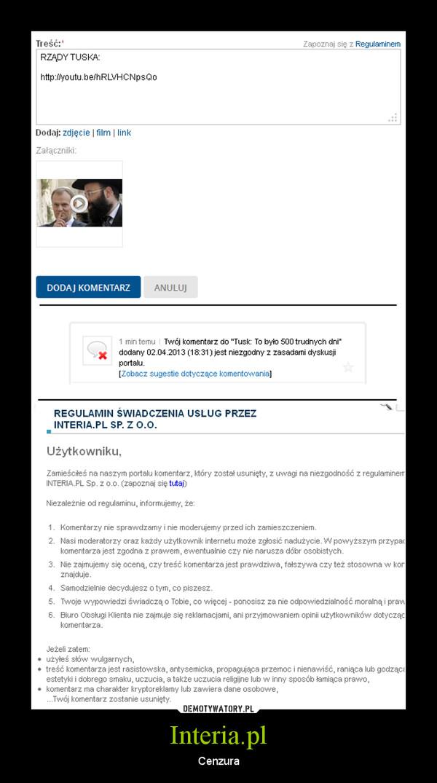 Interia.pl – Cenzura
