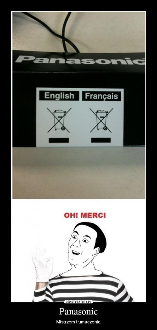 Panasonic – Mistrzem tłumaczenia