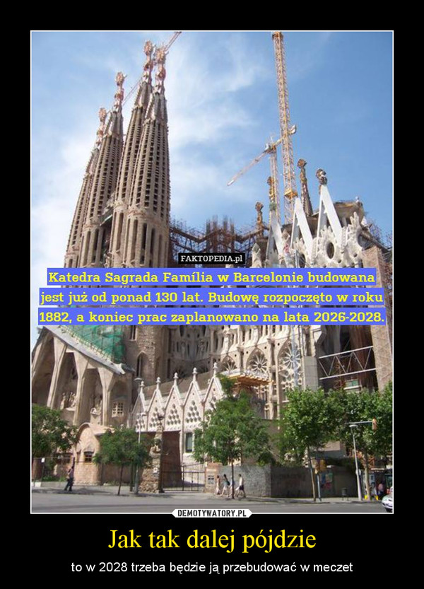 Jak tak dalej pójdzie – to w 2028 trzeba będzie ją przebudować w meczet