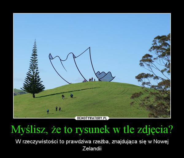 Myślisz, że to rysunek w tle zdjęcia? – W rzeczywistości to prawdziwa rzeźba, znajdująca się w Nowej Zelandii