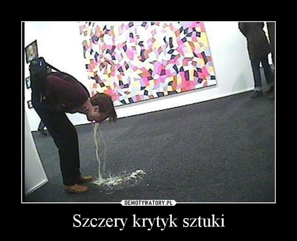 Szczery krytyk sztuki –