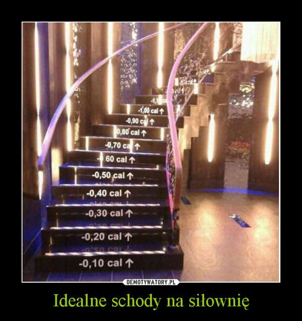Idealne schody na siłownię –