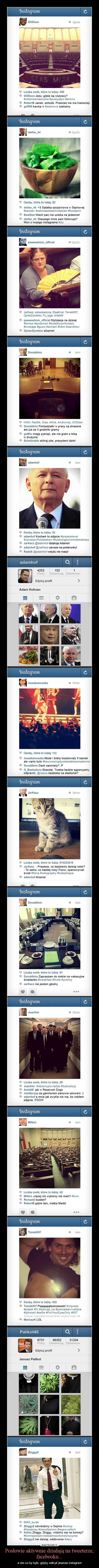 Posłowie aktywnie działają na tweeterze, facebooku... – a oto co by było, gdyby odkryli jeszcze instagram