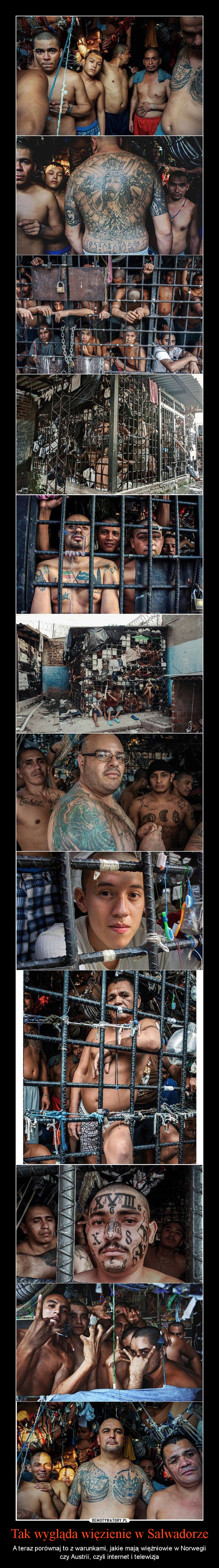 Tak wygląda więzienie w Salwadorze – A teraz porównaj to z warunkami, jakie mają więźniowie w Norwegii czy Austrii, czyli internet i telewizja