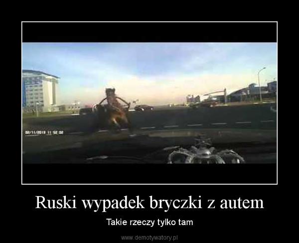 Ruski wypadek bryczki z autem – Takie rzeczy tylko tam