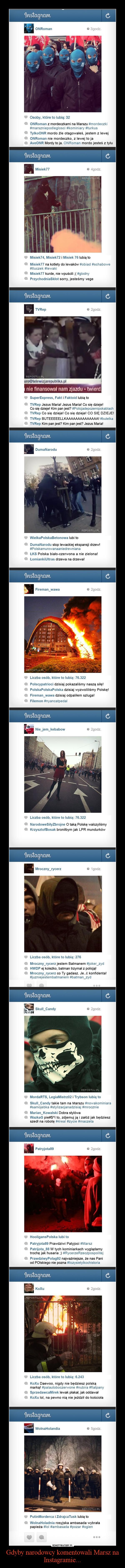 Gdyby narodowcy komentowali Marsz na Instagramie... –