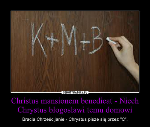 Christus mansionem benedicat - Niech Chrystus błogosławi temu domowi