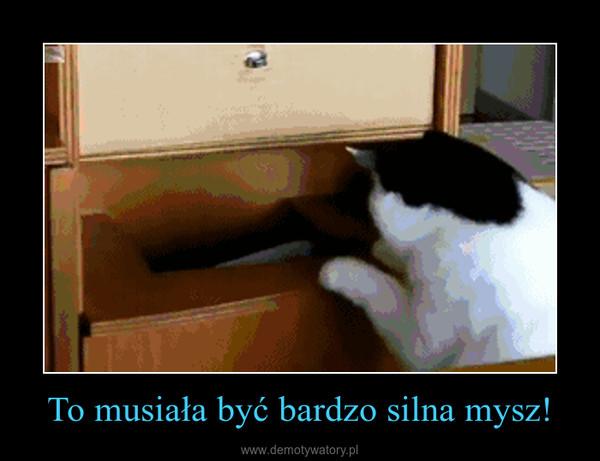 To musiała być bardzo silna mysz! –