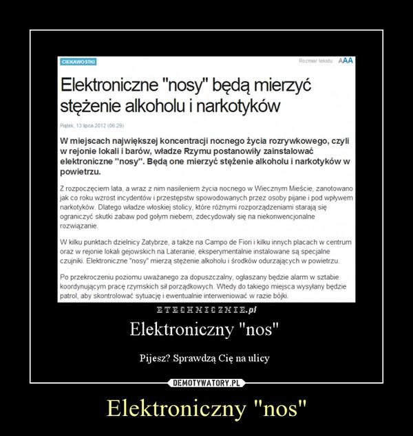"""Elektroniczny """"nos"""" –"""