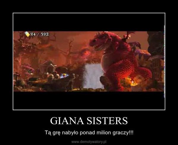 GIANA SISTERS – Tą grę nabyło ponad milion graczy!!!