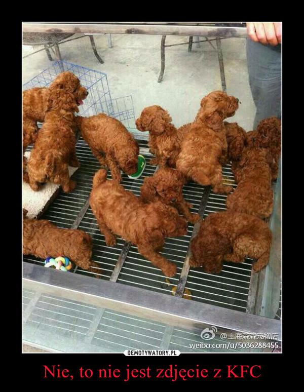 Nie, to nie jest zdjęcie z KFC –