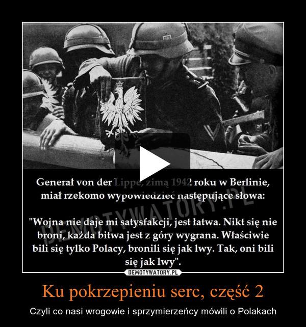 Ku pokrzepieniu serc, część 2 – Czyli co nasi wrogowie i sprzymierzeńcy mówili o Polakach