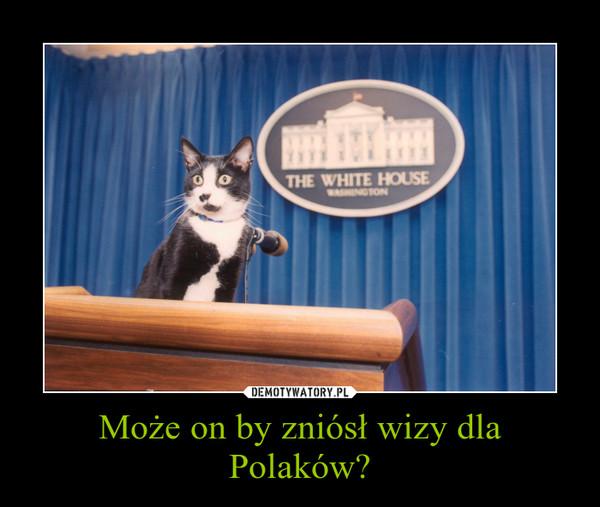 Może on by zniósł wizy dla Polaków? –
