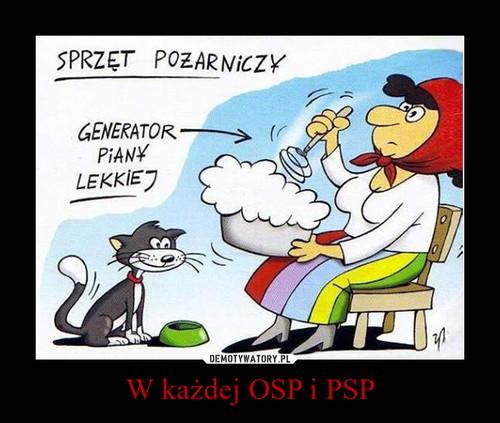 W każdej OSP i PSP