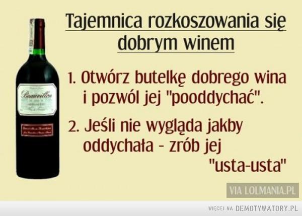 Jak pić wino –