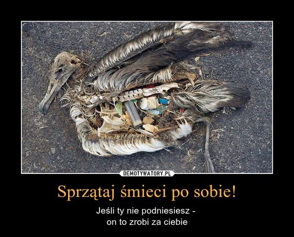 Sprzątaj śmieci po sobie! – Jeśli ty nie podniesiesz -  on to zrobi za ciebie