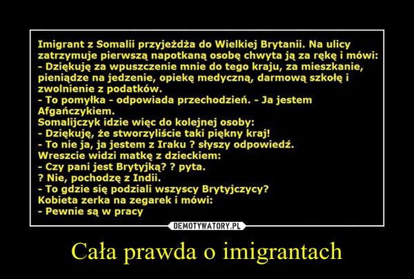 Cała prawda o imigrantach –