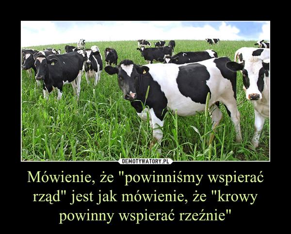 """Mówienie, że """"powinniśmy wspierać rząd"""" jest jak mówienie, że """"krowy powinny wspierać rzeźnie"""" –"""