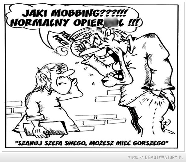 Plakat mobbing-owy –