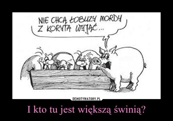I kto tu jest większą świnią? –