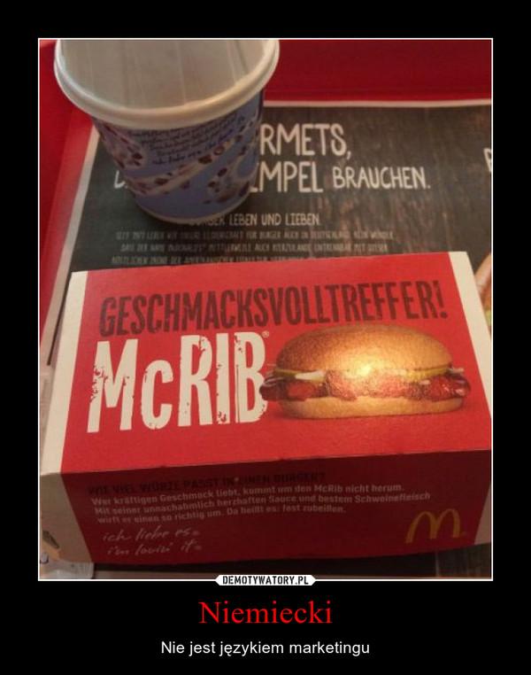 Niemiecki – Nie jest językiem marketingu