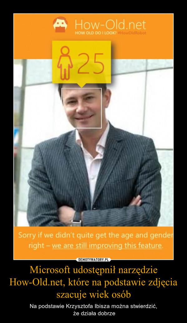Microsoft udostępnił narzędzie How-Old.net, które na podstawie zdjęcia szacuje wiek osób – Na podstawie Krzysztofa Ibisza można stwierdzić, że działa dobrze