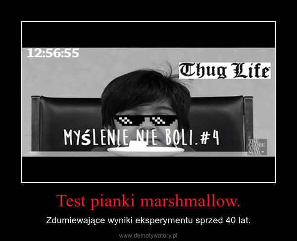 Test pianki marshmallow. – Zdumiewające wyniki eksperymentu sprzed 40 lat.