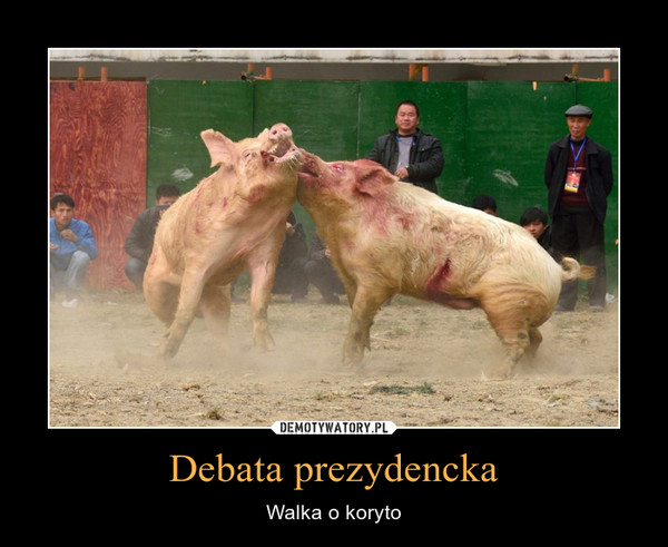 Debata prezydencka – Walka o koryto