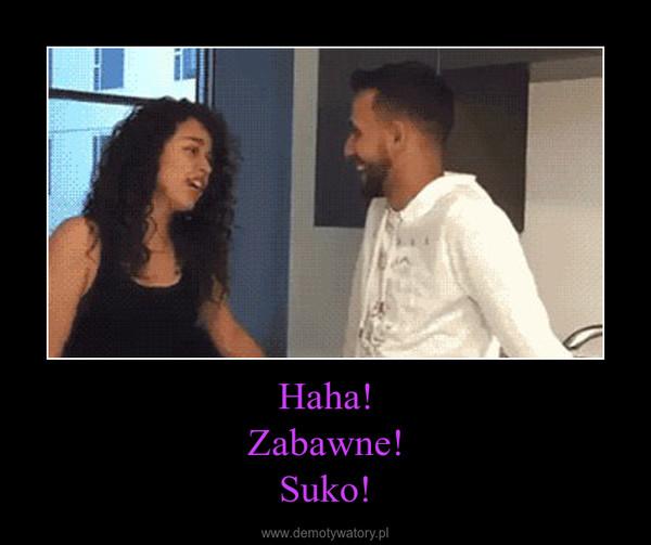 Haha!Zabawne!Suko! –