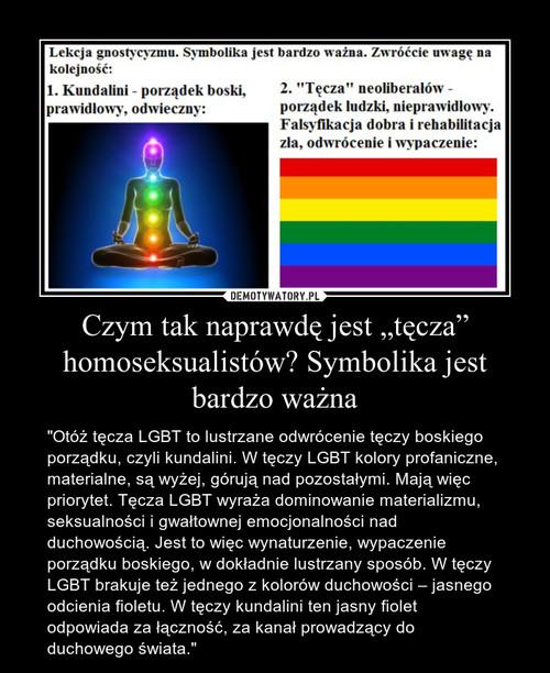 """Czym tak naprawdę jest """"tęcza"""" homoseksualistów? Symbolika jest bardzo ważna"""