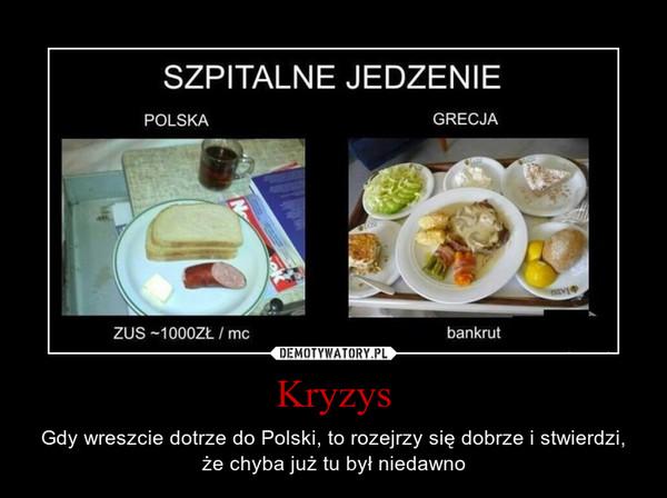 Kryzys – Gdy wreszcie dotrze do Polski, to rozejrzy się dobrze i stwierdzi, że chyba już tu był niedawno