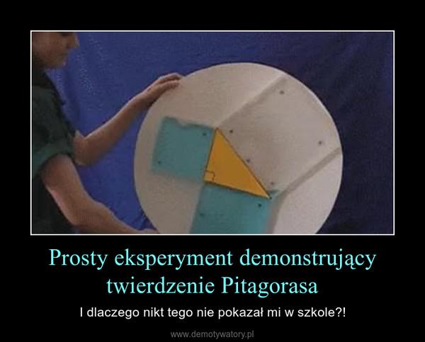 Prosty eksperyment demonstrujący twierdzenie Pitagorasa – I dlaczego nikt tego nie pokazał mi w szkole?!