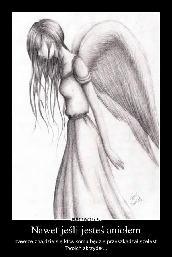 Nawet jeśli jesteś aniołem – zawsze znajdzie się ktoś komu będzie przeszkadzał szelest Twoich skrzydeł...
