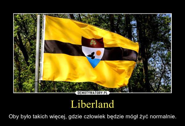 Liberland – Oby było takich więcej, gdzie człowiek będzie mógł żyć normalnie.